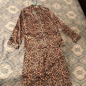 Leopard Print Victoria's Secret Pajamas, size S